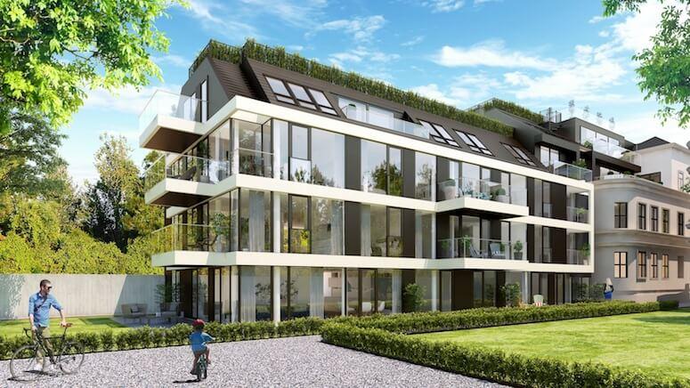 Visualisierung westlich ausgerichteter Neubau
