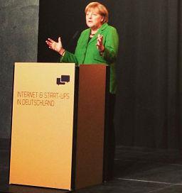 Angela Merkel empfängt Startup-Unternehmen / Foto: Kolja Hebenstreit