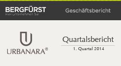 Quartalsbericht zum 1. Quartal 2014 von URBANARA