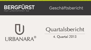 Quartalsbericht zum 4. Quartal 2013 von URBANARA