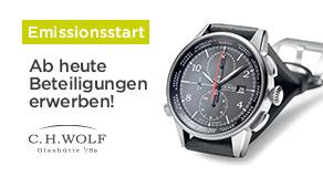 Direkt nach der Live-Übertragung gehts los: Investment-Start C.H.WOLF