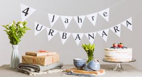 URBANARA feiert Geburtstag: Vier Jahre Qualität für Zuhause