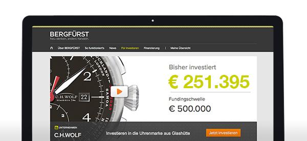Halbzeit bei C.H.WOLF – bereits mehr als 250.000 Euro investiert!