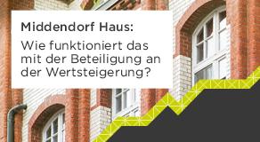 Wie funktioniert das mit der Beteiligung an der Wertsteigerung beim Middendorf Haus?