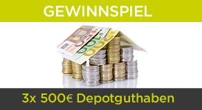 Gewinnen Sie jetzt ein Depot-Guthaben und spekulieren Sie kostenfrei mit 500 Euro bei BERGFÜRST!