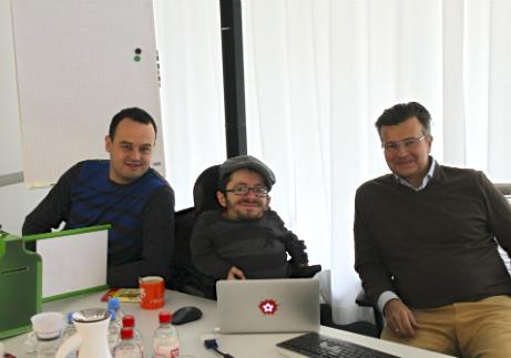 Dennis Bemmann, Raul Krauthausen und Guido Sandler