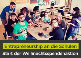 Weihnachtszeit – Charityzeit: BERGFÜRST und IW JUNIOR bringen Entrepreneurship an die Schulen!