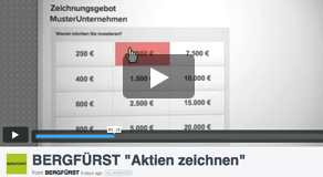 Unsere Tutorial-Videos: So einfach ist das Investieren mit BERGFÜRST!