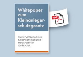 Whitepaper: Crowdinvesting nach dem Kleinanlegerschutzgesetz