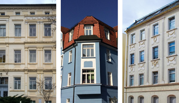Collage der Immobilien