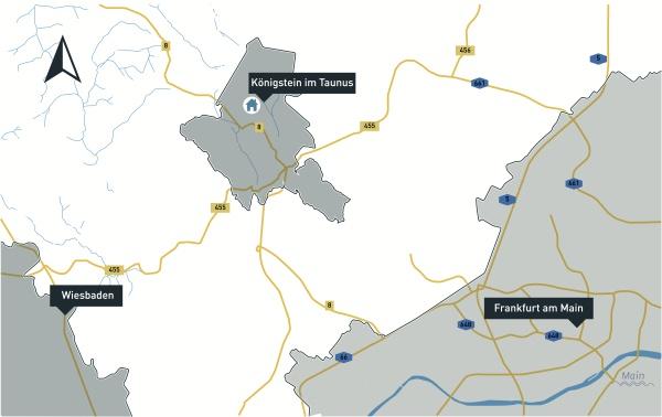 Königstein im Taunus auf der Deutschlandkarte