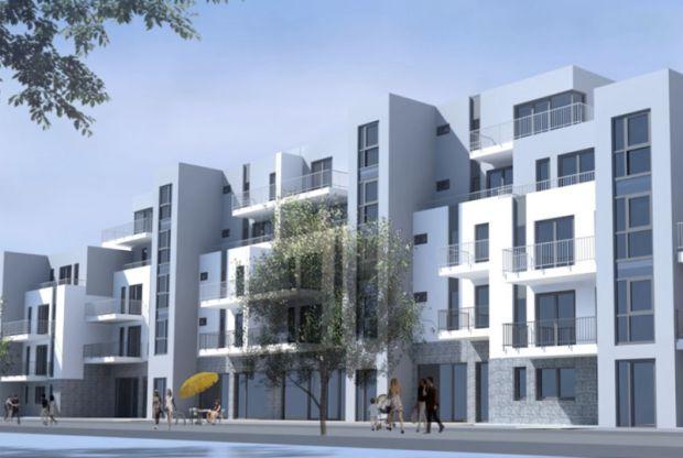 Visualisierung des neuen Mehrfamilienhauses
