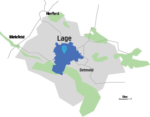 Makrolage Regierungsbezirk Detmold