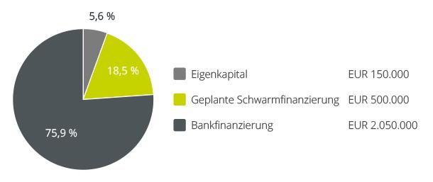 Geplante Finanzierungsstruktur